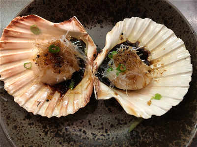 Foto Steamed coquilles 2 stuks / pieces