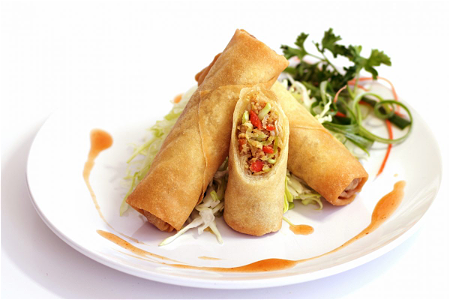 Foto Three kind of springrolls