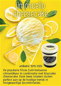 Foto Ijsbeker limoncello Cheesecake 500ml