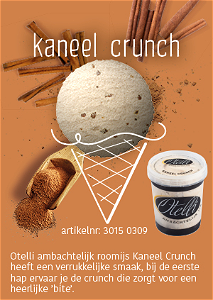Foto Ijsbeker kaneel crunch 500ml